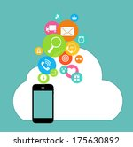 cloud computing concept on... | Shutterstock .eps vector #175630892