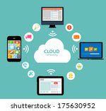 cloud computing concept on... | Shutterstock .eps vector #175630952