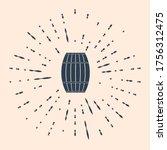 Black Wooden Barrel Icon...