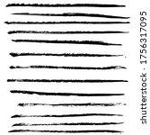 ink black grunge stripes set....   Shutterstock .eps vector #1756317095