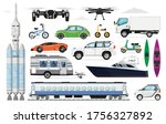 transportation vehicles set.... | Shutterstock .eps vector #1756327892