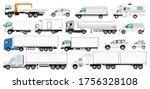 vehicle branding mockup. vector ... | Shutterstock .eps vector #1756328108