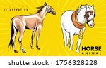 beautiful red horse with long... | Shutterstock .eps vector #1756328228