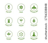 organic product line icons set. ... | Shutterstock .eps vector #1756338848