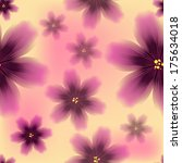 colorful floral seamless... | Shutterstock .eps vector #175634018