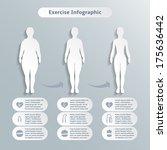 infographics elements for women ... | Shutterstock .eps vector #175636442