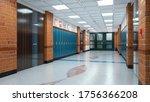 school corridor interior. 3d... | Shutterstock . vector #1756366208