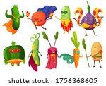 superhero fruits vector fruity...   Shutterstock .eps vector #1756368605
