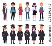 group of young students. group...   Shutterstock .eps vector #1756391942