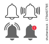 bell notification icon vector....