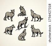 Furry Gray Canidae Lagopus...