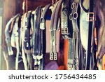 Small photo of Close up photo of horse girth
