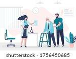 help for elderly people.... | Shutterstock .eps vector #1756450685