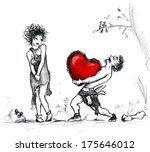 figure for st. valentine's day... | Shutterstock . vector #175646012