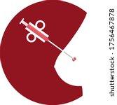 illustration of core biopsy... | Shutterstock .eps vector #1756467878