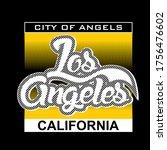 la los angeles california.city...   Shutterstock .eps vector #1756476602