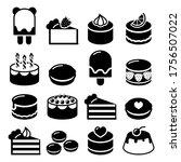 dessert icons set   cake ... | Shutterstock .eps vector #1756507022
