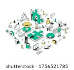 teamwork concept with the team... | Shutterstock .eps vector #1756521785