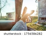 Woman's Toes In Car Window With ...