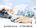 close up image of businesswoman ... | Shutterstock . vector #175658828