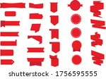 color ribbon isolated white...   Shutterstock .eps vector #1756595555