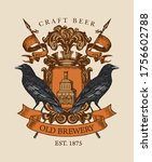 old brewery coat of arms in... | Shutterstock .eps vector #1756602788