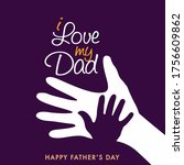 illustration of happy father's... | Shutterstock .eps vector #1756609862
