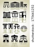 houses icons set. | Shutterstock .eps vector #175661252