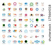 unusual icons set   isolated on ... | Shutterstock .eps vector #175664318