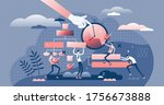 project management control... | Shutterstock .eps vector #1756673888