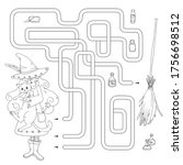 labyrinth. maze game for kids....   Shutterstock .eps vector #1756698512