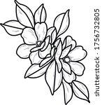 flower art work decorative...   Shutterstock .eps vector #1756732805