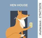 Sly Fox Wearing Napkin Around...