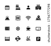 hotel and rentals icons 1 of 2  ... | Shutterstock .eps vector #1756777298