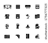 household appliances icons   ... | Shutterstock .eps vector #1756777325