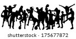 vector silhouette of people in... | Shutterstock .eps vector #175677872