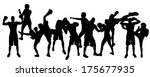 vector silhouette of people who ... | Shutterstock .eps vector #175677935