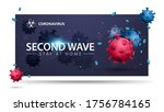 covid 19  second wave concept....   Shutterstock .eps vector #1756784165