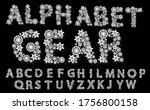 alphabet mechanical gear white... | Shutterstock .eps vector #1756800158