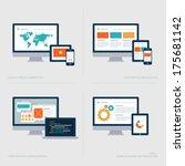 set of flat design concept... | Shutterstock .eps vector #175681142