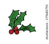 cartoon holly | Shutterstock . vector #175682792