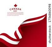 happy canada day celebration... | Shutterstock .eps vector #1756860098