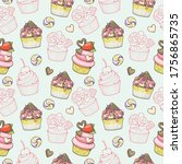 seamless pattern colorful and... | Shutterstock .eps vector #1756865735