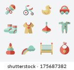 baby icons | Shutterstock .eps vector #175687382