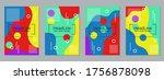modern trendy business flyer ... | Shutterstock .eps vector #1756878098