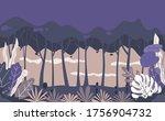 forest background. flat design ...