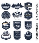 adventure label logo templates. ... | Shutterstock .eps vector #1756906928