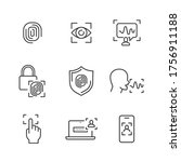 cyber security are... | Shutterstock .eps vector #1756911188