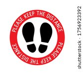 please keep the distance ... | Shutterstock .eps vector #1756923392