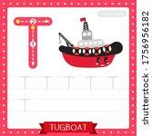 letter t uppercase cute... | Shutterstock .eps vector #1756956182